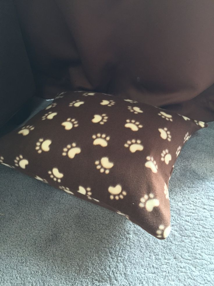 Brown Bean Bag Pet Bed by LillyPadsPetBeds on Etsy