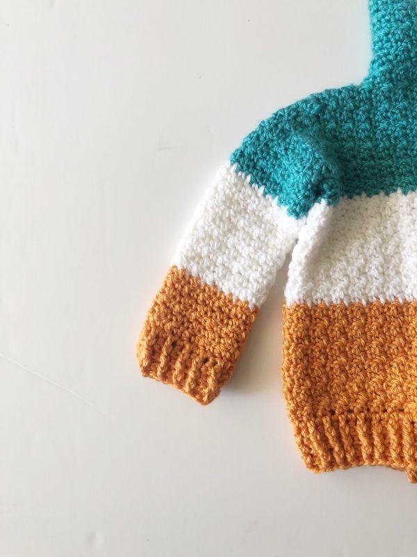 Baby Three Color Crochet Cardigan Daisy Farm Crafts Daisy Farm