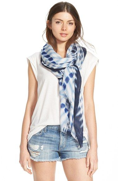 Nordstrom Tie Dye Plaid Wrap available at #Nordstrom