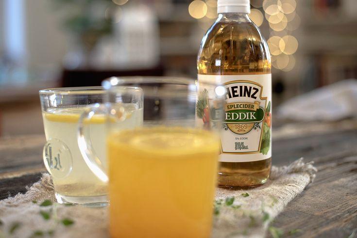 Hold forkjølelsen unna-drikk.  Var ikke det et fint navn? Forkjølelsescoctail er det også noen som kaller den. Hensikten