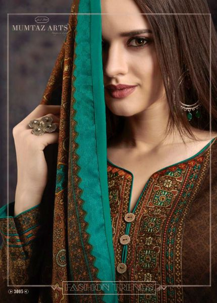c24c6ad367 Mumtaz Arts Rangon Ki Dunya Cashmere Pure Pashmina Unstitched Suit 3005