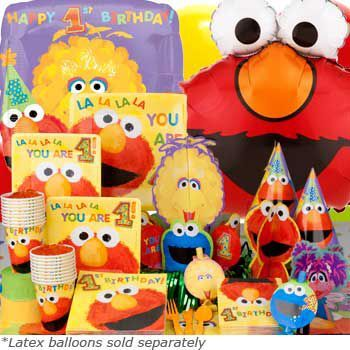 Deluxe Elmo's 1st Birthday Box - Elmo's 1st Birthday Party Pack