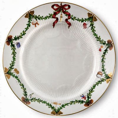 Royal Copenhagen christmas china dinner plate pattern