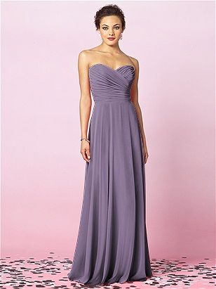 lavender bridesmaid dress. Would want dark colour but like the style