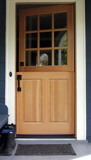 Dutch Entry Door Manufactured By Rogue Valley Door In Southern Oregon.  Solid Core Fir With A Natural Finish. Photo By Sloan Schang.