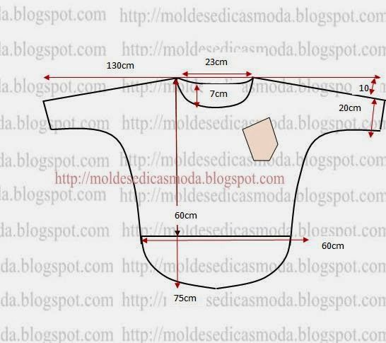 Sewing Pattern: Fashion Templates for Measure: Casual EASY CUT BLOUSE