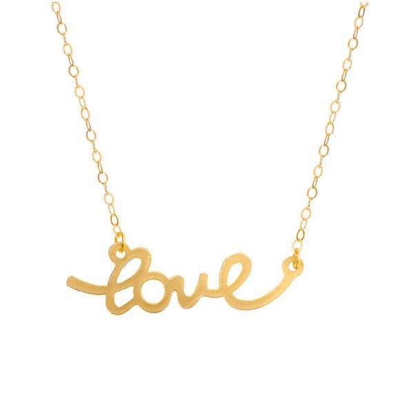 MINNIE GRACE gold Love charm necklace | La Luce