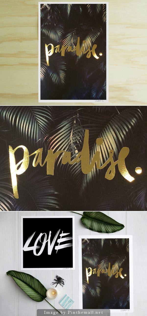 Paradise Gold Foil Print | Blacklist Studio - created via http://pinthemall.net