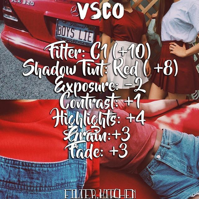 Type: Free || this is great for red themes, summer and vintage photos