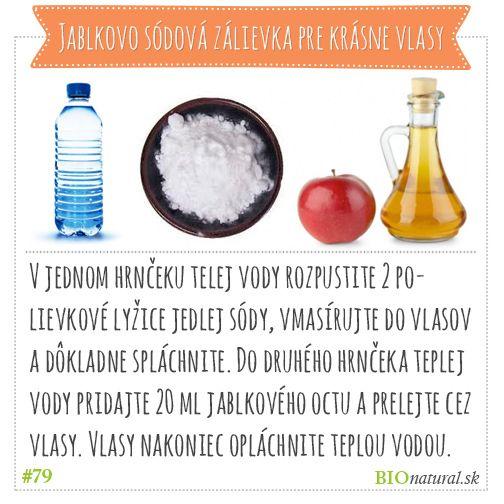 Vyrobte sis amé: jablkovo sódová zálievka pre krásne vlasy #diy #vyrobsisama