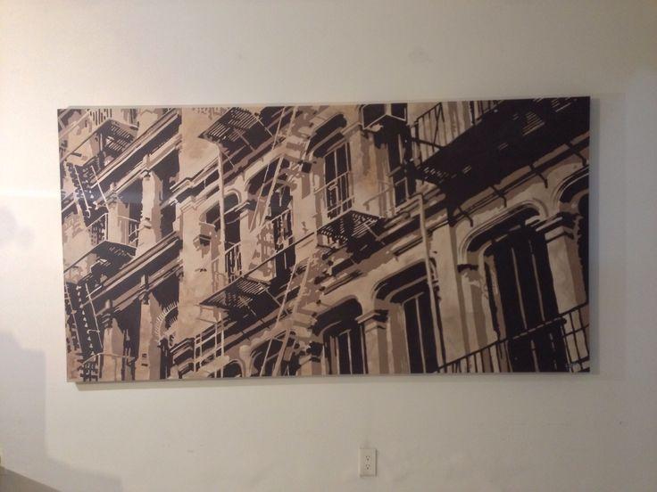 Obra. Balcones  Acrilico sobre tela  220 x 110