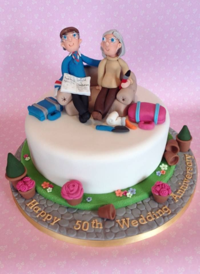 We post lots of wedding cakes where the bride and groom are just starting out in married life. It is lovely to celebrate a 50th!!!! Wedding Anniversary