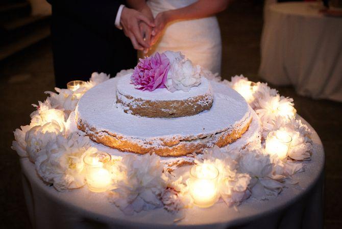 Italian wedding cake millefoglie