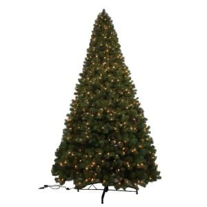 Generic 12 ft. Noble Fir Quick-Set Artificial Christmas Tree with 1450 Clear…