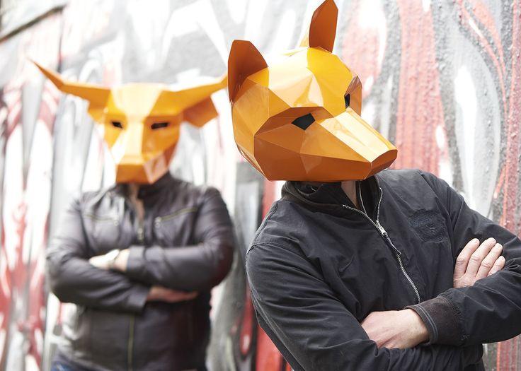 masken, orange, shooting, werbeagentur [raster]fabrik gmbh, graphitti, fuchs, stier