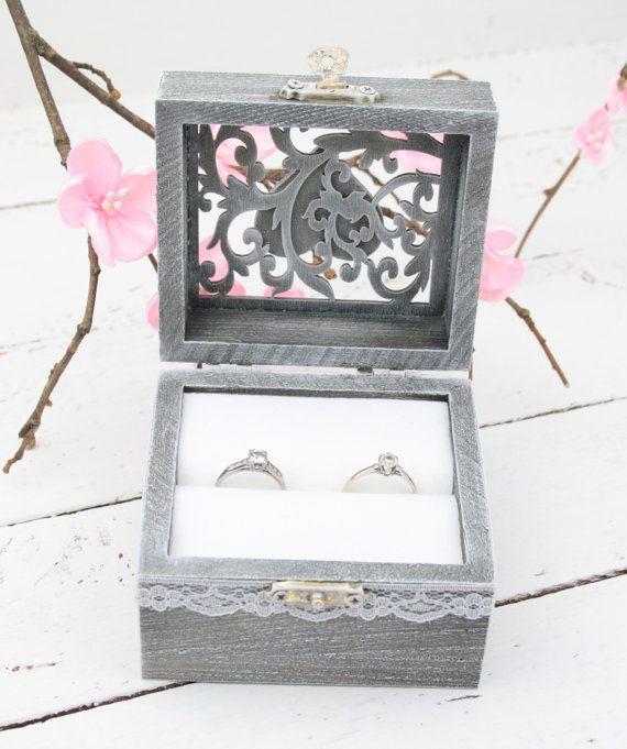 Ring Bearer Box Wedding/Engagement Ring Box by simplyWeddingday
