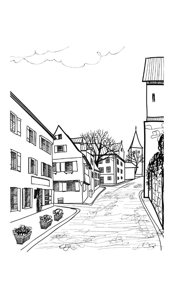 754 best Adult Colouring~Buildings~Houses ~ Cityscapes