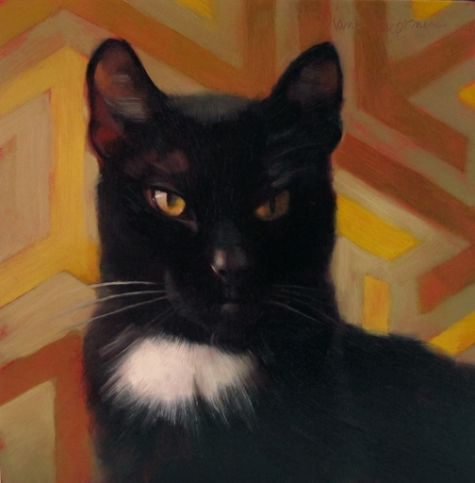 Patch Doesn't Play, painting by artist Diane Hoeptner