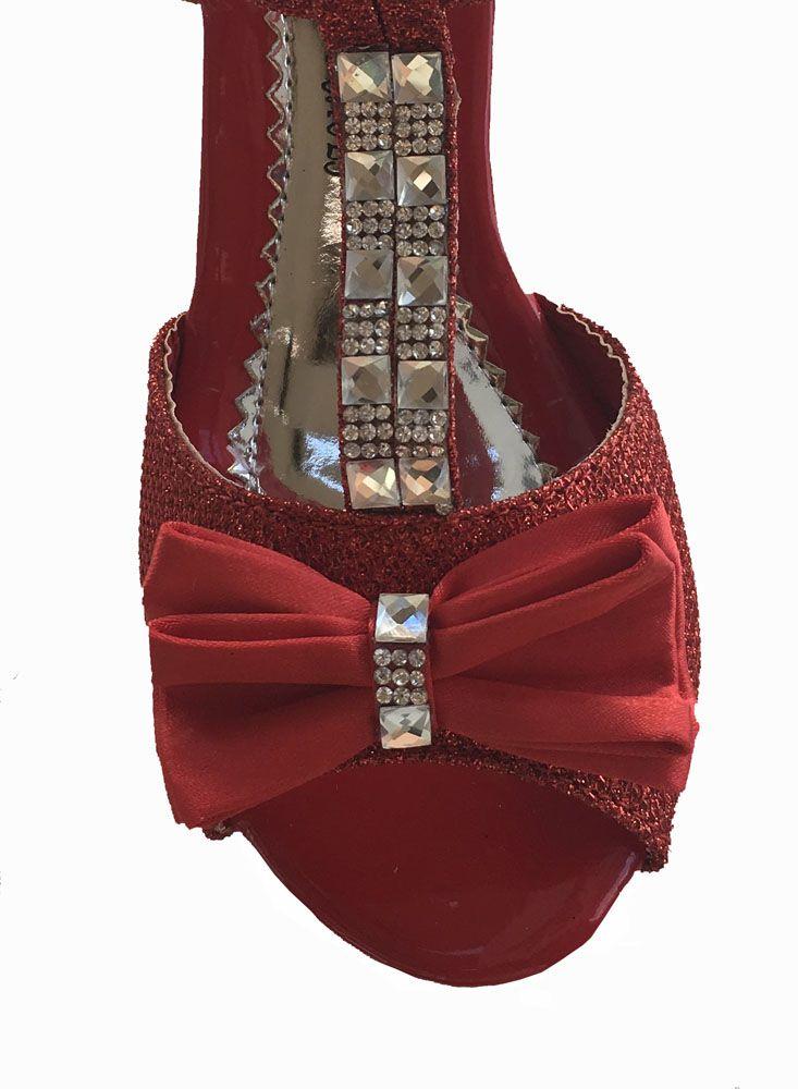 32143ea2741 ... Επίσημα Παπούτσια για Κορίτσια του χρήστη E-shop memoirs. Παιδικά  Σανδάλια, Γόβες Με Τακούνια σε ΚΟΚΚΙΝΟ Με Κρυσταλλα Για Παρανυφάκι, Γάμο,  Πάρτι