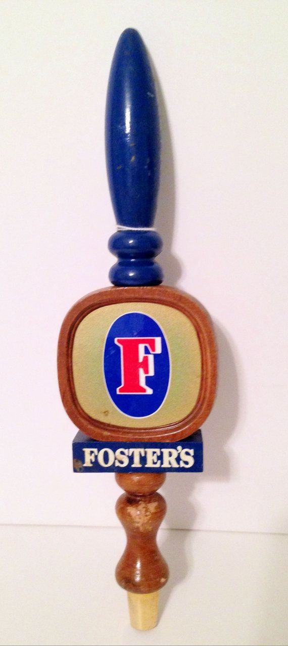 Vintage Tap Pull Fosters Beer Tap Handle by TheGypsyChixCompany, $28.00