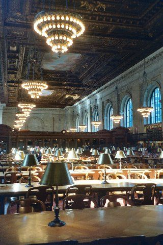 New York Public Library - New York City, New York - Could make a great background for an arty photo