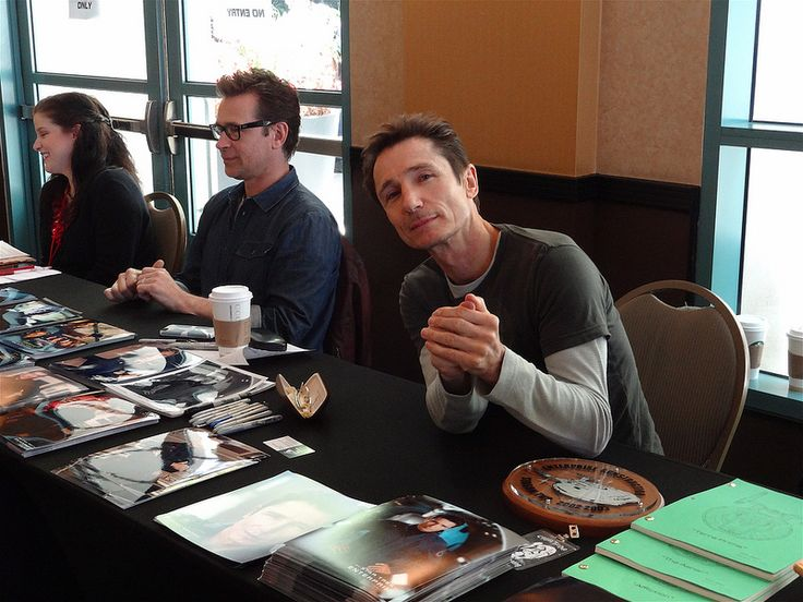 "Actors Connor Trinneer and Dominic Keating, of the Star Trek prequel series, ""Enterprise""..."