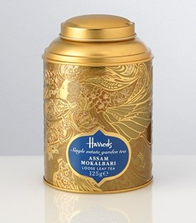 Gorgeous tea canister - of course, Harrods Tea - keep your champagne, my dear. I'll have this!