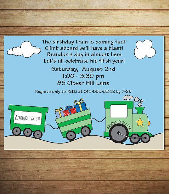 356 best Train Birthday Party images – Choo Choo Train Birthday Invitations