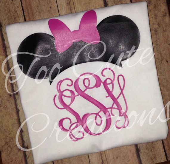 Girls Minnie Mouse Hat Shirt, Disney Monogrammed Shirt, Vinyl Shirt, Disney Cruise, Disney Hat Shirt for kids, Personalized