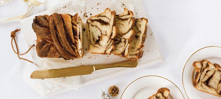 Voilà un pain brioché moelleux pour le petit-déjeuner