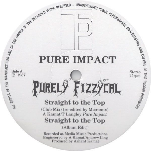 Purely Fizzycal Straight To The Top Vinyl 12 45 Rpm Discogs Straight Tops Pure Products
