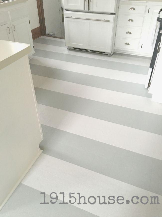 how to paint old linoleum kitchen floors - Painted Kitchen Floor Ideas