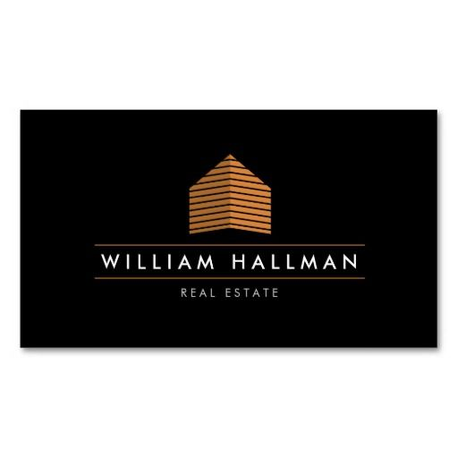 Orange Home Logo Builder Real Estate Business Card Template - For Construction, Property Management, Real Estate and more. Personalize the front and back with your own info. Easy to update, fast shipping.