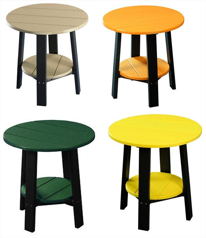 Poly Ohio Amish Outdoor Furniture Round End Table Classic Design Garden Time Pinterest