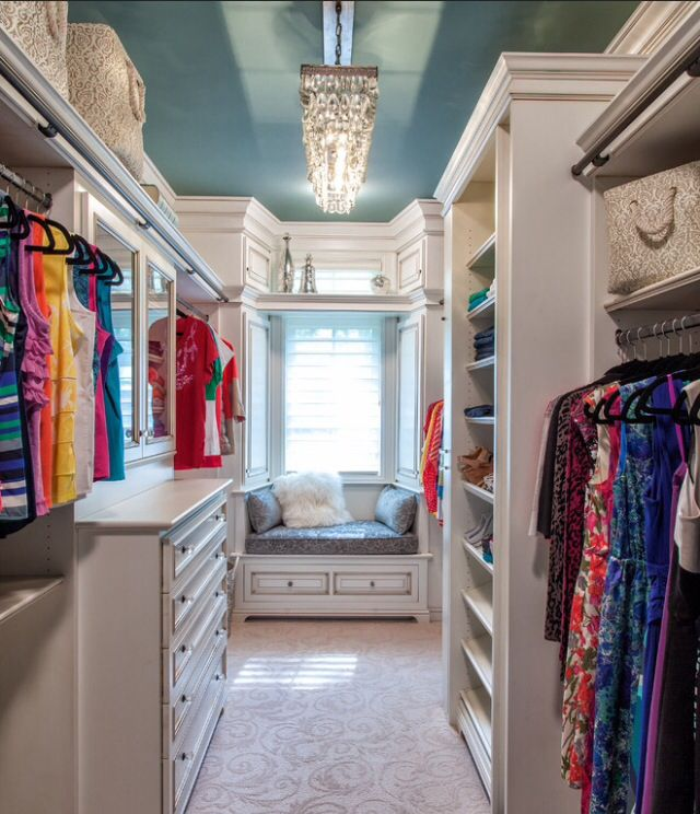 Chandelier in your walk-in closet? Absolutely.
