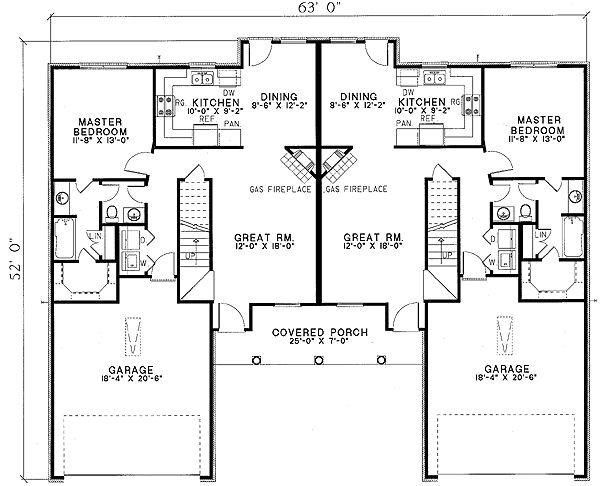 17 Best Images About House Plans Duplex On Pinterest