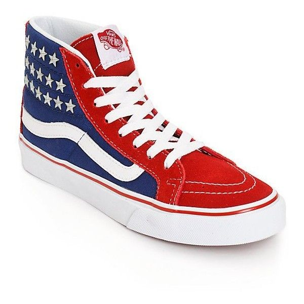 Vans SK8 Hi Slim Studded Star Shoes ($70) ❤ liked on Polyvore featuring  shoes