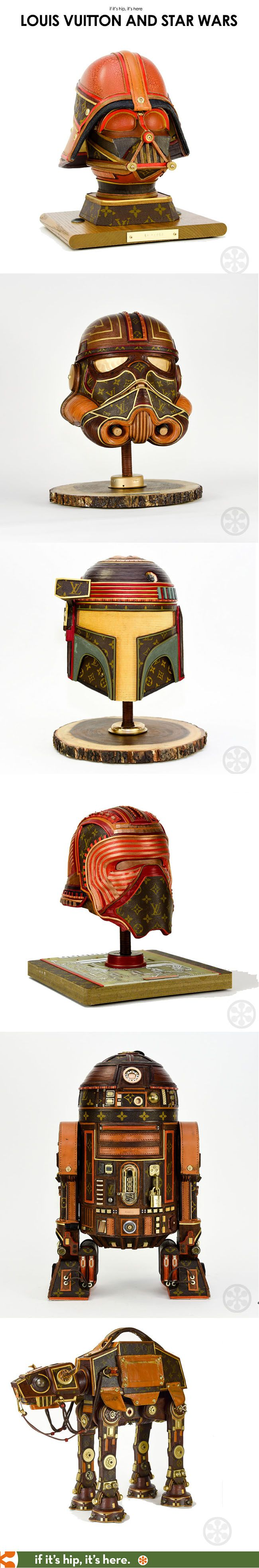 These are phenonmenal. Learn all about them at http://www.ifitshipitshere.com/louis-vuitton-star-wars-sculptures/  #louisvuitton #starwars #gabrieldishaw