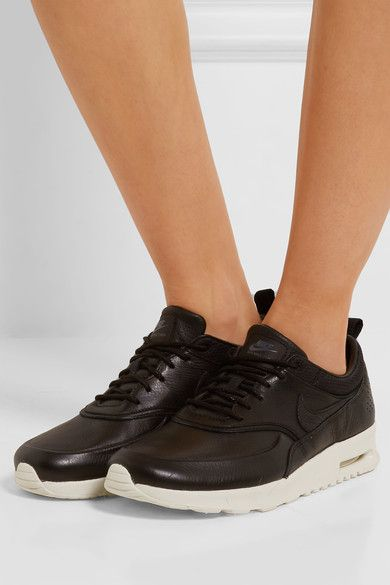 Sole measures approximately 40mm/ 1.5 inches Black textured-leather Lace-up front Nike follows its own size conversion, therefore the size stated on the box will differ from the one provided in our conversion chart. To receive your correct fit, please refer to Size & Fit notes