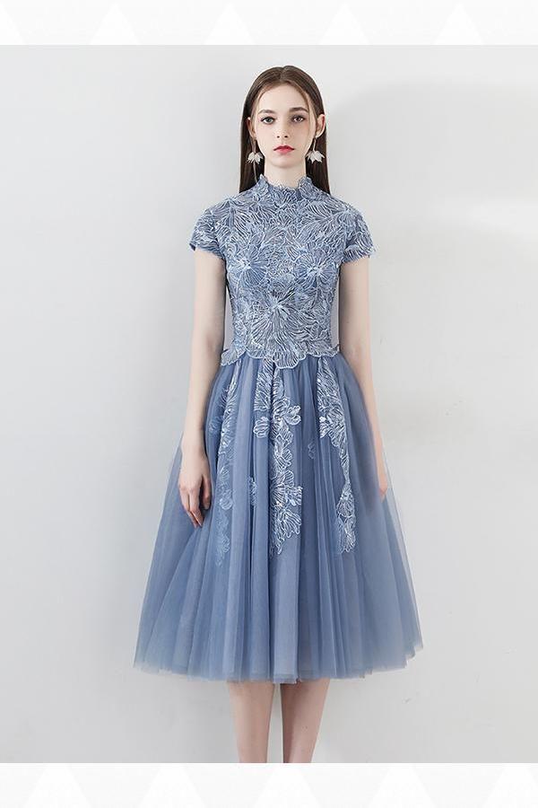 a8d94e30e40 Cheap Suitable Prom Dress Blue