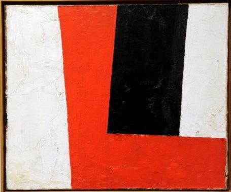 Guido Molinari - Angle Rouge - 1955 - Les plasticiens et les années 50 et 60: extase plastique | Josianne Desloges | Expositions