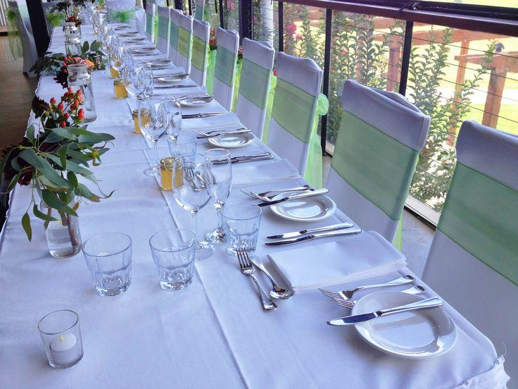 Fresh green décor at Yarra Ranges Estate. Winery Wedding | Yarra Valley Wedding | Dandenong Ranges Wedding