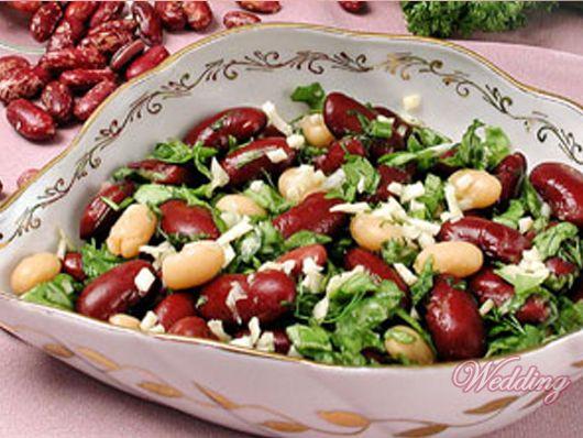 Салат из фасоли готовим дома