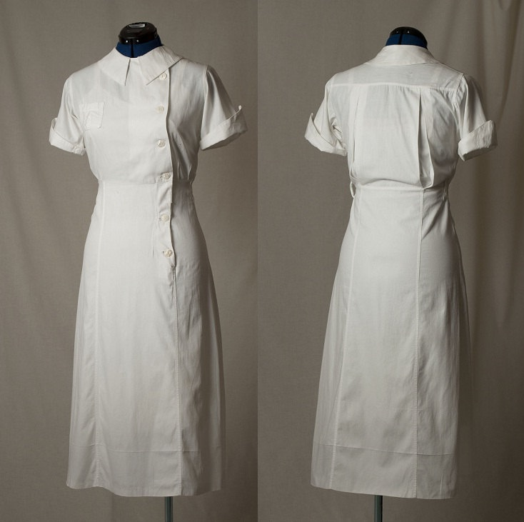 1940s Nurseu0027s Uniform Dress with Shell by FawnNFireflyVintage & 176 best 1940u0027s War Nurse Inspiration images on Pinterest | Nursing ...