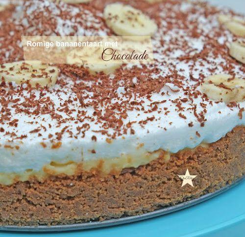 Romige bananentaart met chocolade (Recept uit Portugal)