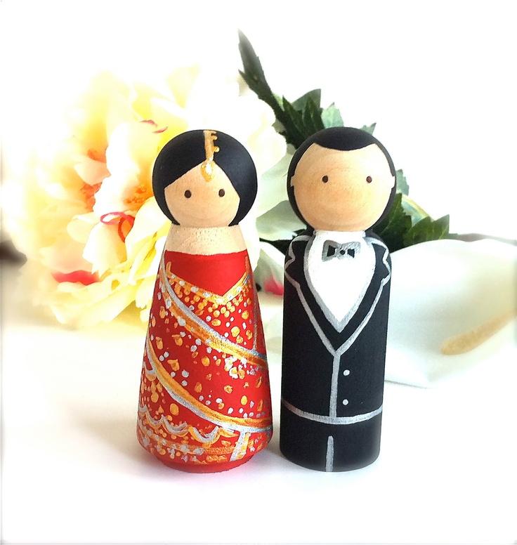 Ethnic Wedding Cake Toppers Ethnic Celtic by CreativeButterflyXOX