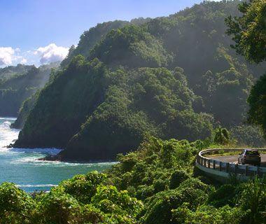 Hana Hwy, Maui. Terrifying drive + stunning beauty = my kind of love (throw in a fast European car & we'll talk).