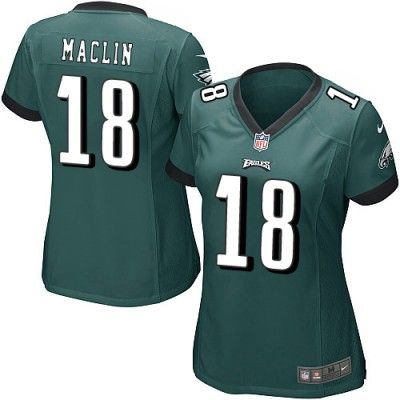 As the official online store of the NFL Philadelphia Eagles, we offer you a large selection of new Women's Nike Philadelphia Eagles #18 Jeremy Maclin Game Team Color Jersey for men's, women's, youth and kids at Official Shop. Visit the official NFL Eagles Store regularly for great discounts, free shipping offers on top Philadelphia Eagles Jersey and the latest fan gear for men, women and kids!$69.99