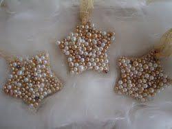 Pearl Star Ornament | AllFreeChristmasCrafts.com