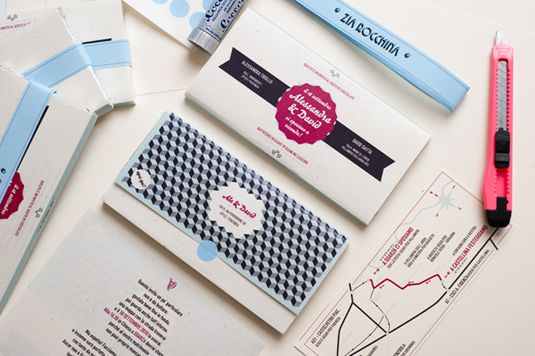 chocolate wrapper :: An utterly brilliant and original way to invite people to your wedding